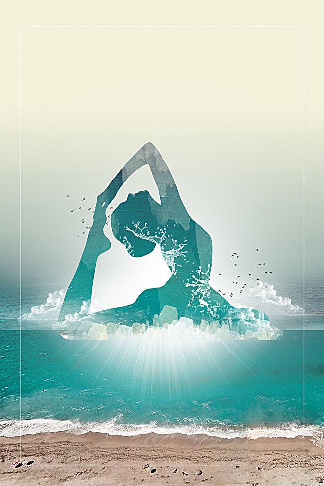 Green Yoga Poster Background Yoga Poster Design Yoga Background Yoga Poster