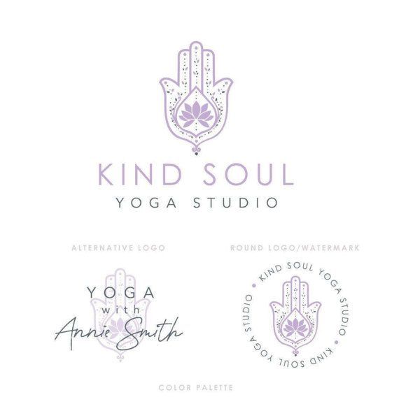 Yoga Studio Logo Yoga Logo Lotus Logo Yoga Branding Kit