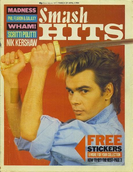 Smash Hits Nik Kershaw Cover, 29 March 1984