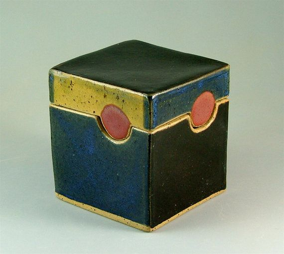 Clay Handbuilt BoxShaped Container by MeganSmithPottery on Etsy, $42.00