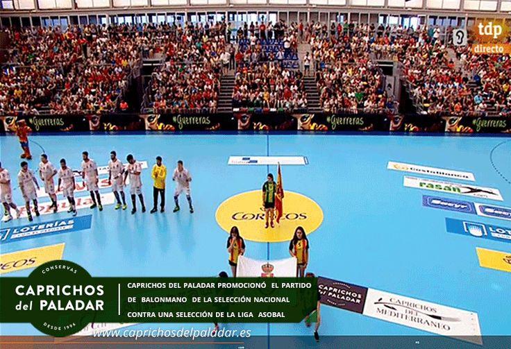 ¿ sabías qué Caprichos del Paladar se promocionó en el partido de balonmano entre la Selección Española y una selección de los mejores jugadores de la Liga Asobal, celebrado ayer en Almoradi  y retrasmitido por TeleDeporte?  Si no lo pudiste ver te dejamos el enlace del partido http://rtve.es/v/4070118