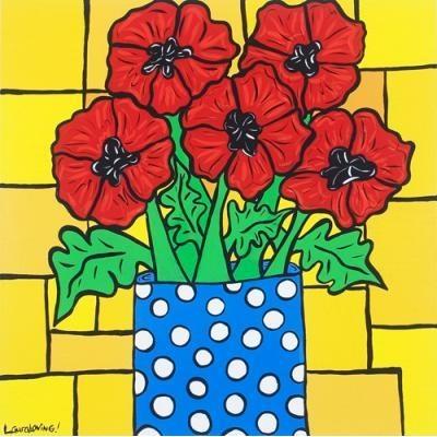 Polka Dot Poppies Artful Tiles