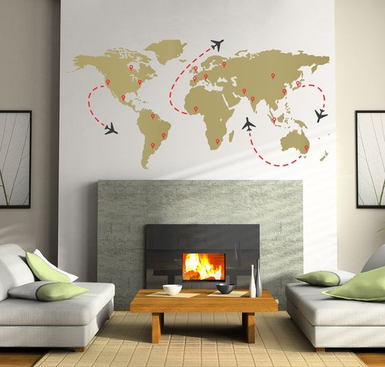 Find World Map wall decals at the Decal Guru. We have all the best.