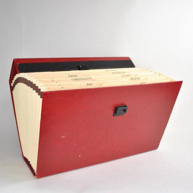 vintage administratie koffertje
