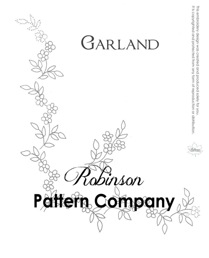 Garland Hand Embroidery pattern