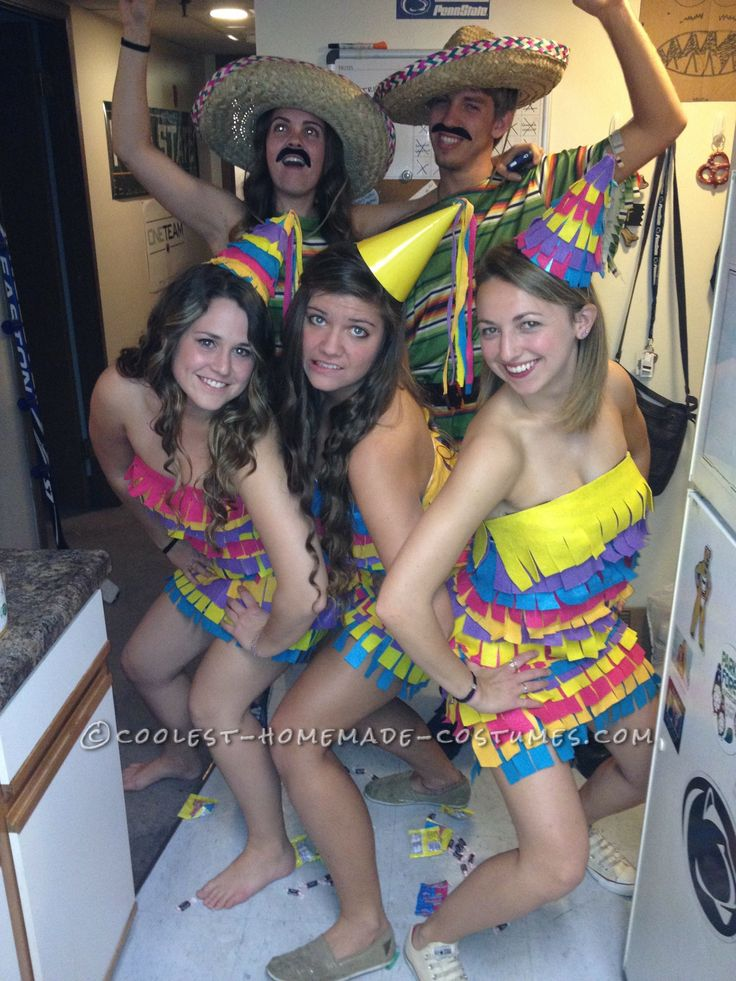 the cutest party pinatas girl group costume - 4 Girls Halloween Costumes