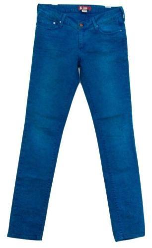 Blauwe skinny/slimfit jeans - turquoise/cyaan/kobalt - mt.31 €15