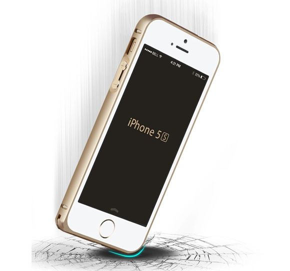 iPhone 5 / 5S - Silicone Jelly Bumper Case - Gold