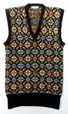 Shetland Museum - Shetland patterned sleeveless pullover