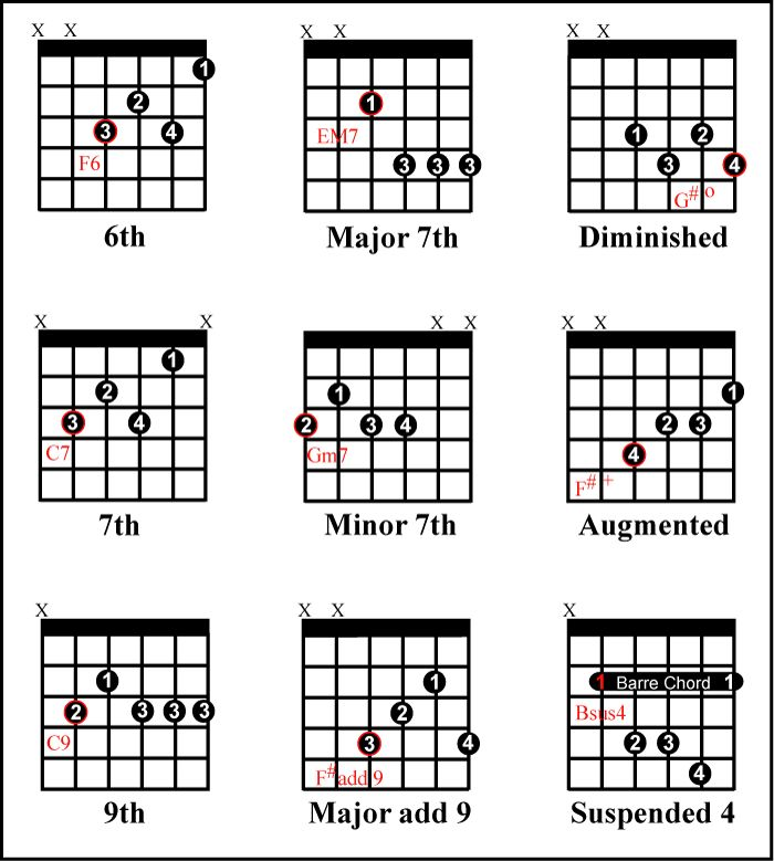 343 best theory images on Pinterest Guitar chord, Guitar chords - capo chart