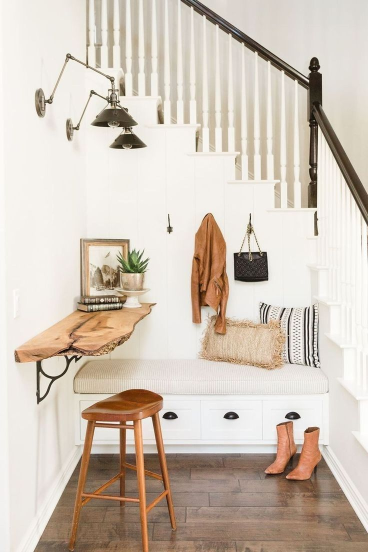 Home decor entryway scandinavian style entrway with natural wood and built in bench read more
