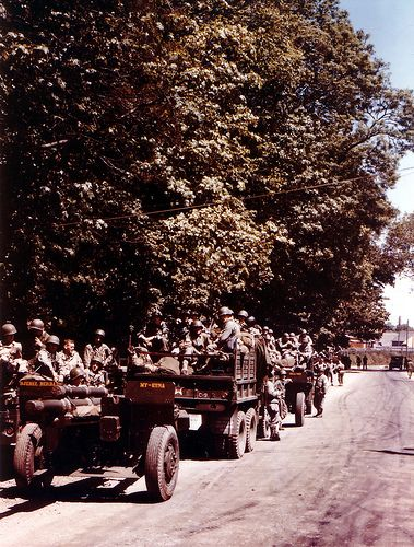 d day invasion in color