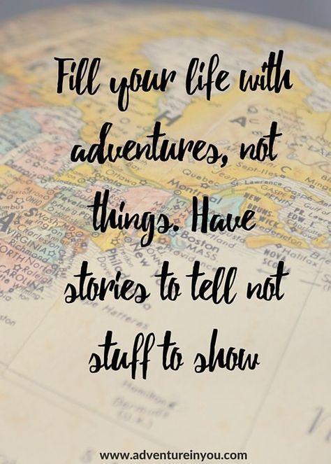 Habe Geschichten zu erzählen, keine Dinge zu zeigen.