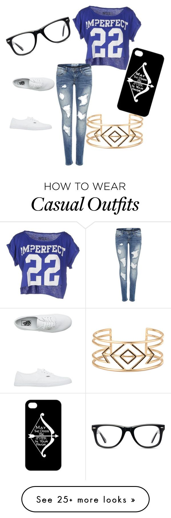"""Casual"" by kjarellano on Polyvore featuring moda, !M?ERFECT, Vans, Muse i Stella & Dot"
