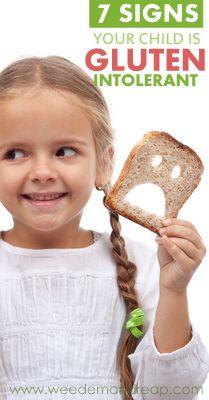 7 Signs Your Child is Gluten Intolerant - #glutenfree