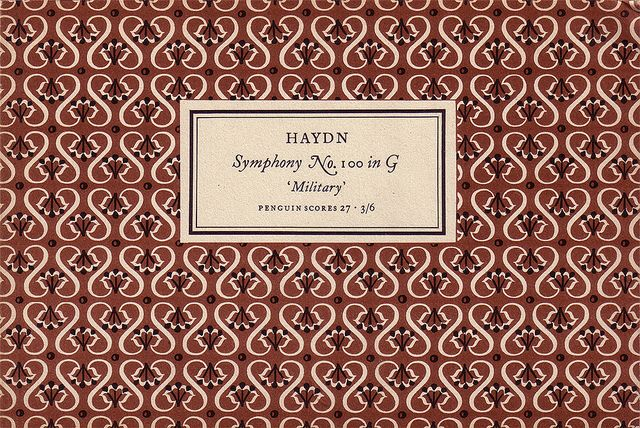 Penguin Scores no. 27: 1954    Publisher: Penguin Books / Series: Penguin Scores / Designer: Jan Tschichold / Year: 1954 / Pattern by Elizabeth Friedlander