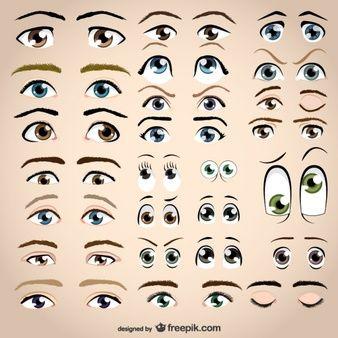 Olhos de vetores