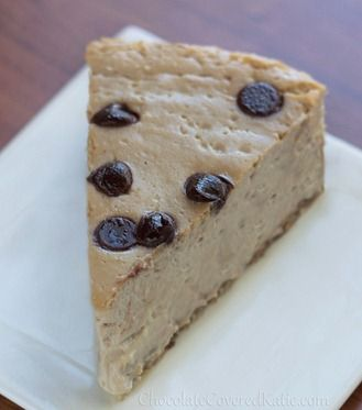 Cappuccino Cloud Pie - the texture is amazing! http://chocolatecoveredkatie.com/2013/04/11/secretly-healthy-cappuccino-cloud-cheesecake/