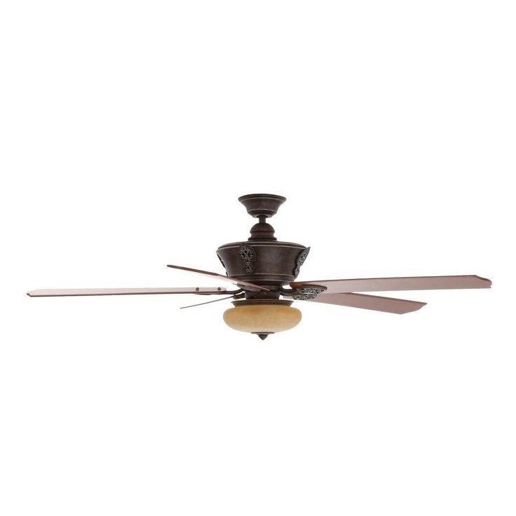 Hampton Bay Enchantment 68 in. Banci Bronze Ceiling Fan-AG798-BBW - The Home Depot