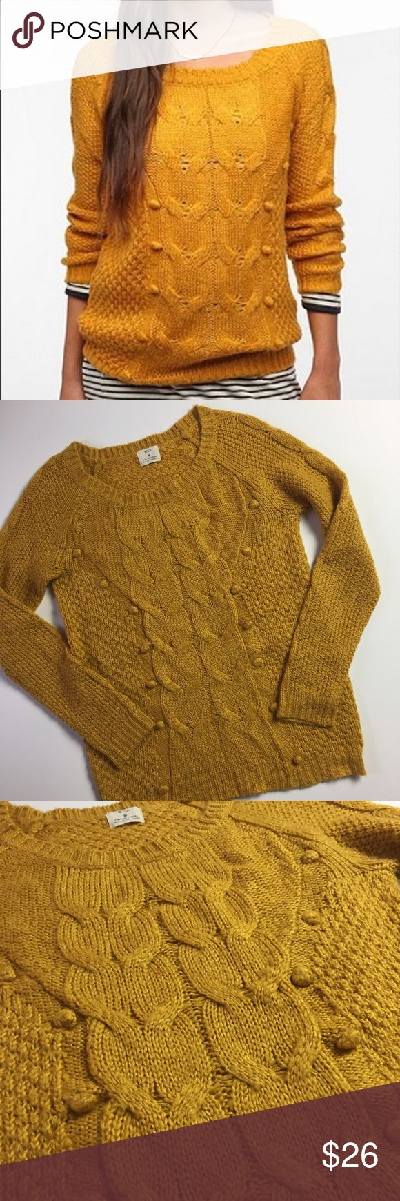 Urban Outfitters Pins & Needles Mustard Sweater Gorgeouuuuuus Pins and Needles mustard marigold sweater. Excellent condition. Perfect to pair with dark wash jeans and ankle booties! Winter wardrobe essential! Urban Outfitters Sweaters Crew & Scoop Necks