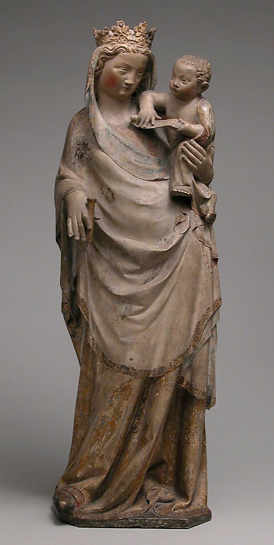 Virgin and Child Date: ca. 1310–20 Culture: French Medium: Paris limestone, polychromed, gilded