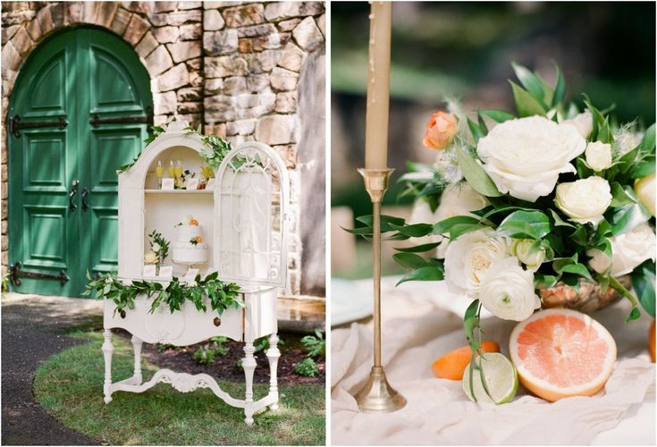 Citrus Summer Bridal Inspiration || Styling: Ginger & Blooms. Photography: Amanda Adams Photography. Rentals: White Glove Rentals.