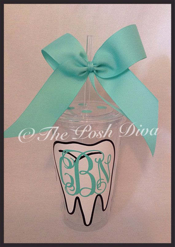Hey, I found this really awesome Etsy listing at https://www.etsy.com/listing/202345510/personalized-dental-hygienist-tumbler