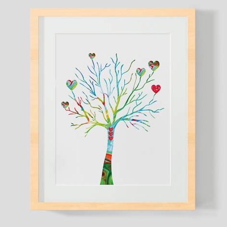 White Tree of Hearts - Unframed - hardtofind. Clio's room 50x70 unframed $89.95