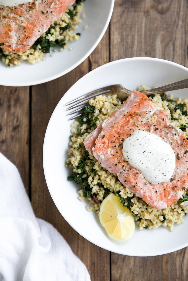 Blue apron ownership - Easy Pan Seared Salmon With Kale And Freekeh Try Blueapron And Get 30 Off
