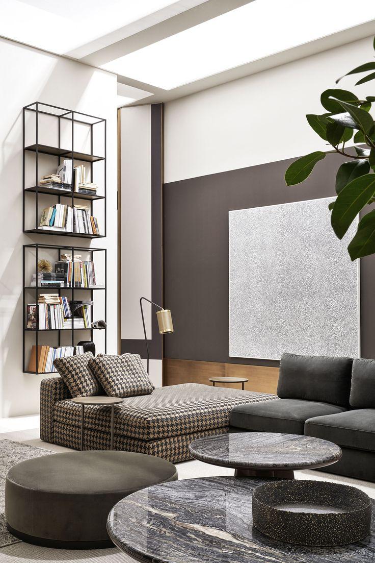 Meridiani salone 2018 harold modular sofa leon low for Interni salone