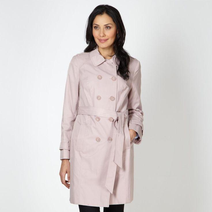 Pale pink mac coat http://picvpic.com/women-coats-jackets-coats/pale-pink-mac-coat#pink