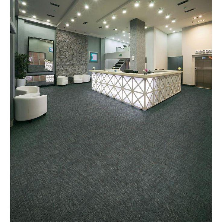 Carnegie Commercial Rock Gray Loop 19.7 in. x 19.7 in. Carpet Tile (20 Tiles/Case)