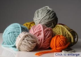 Plump super chunky soft yarn from Mrs Moon