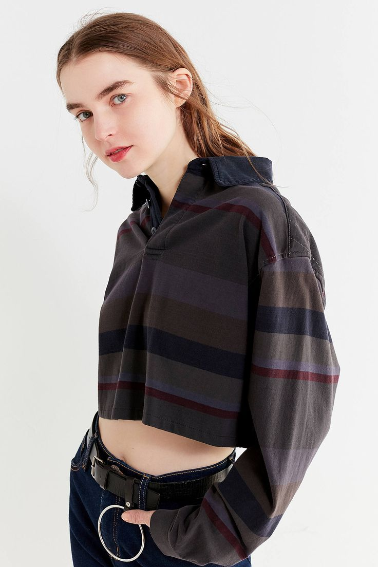 Shop Urban Renewal Remade Assorted Cropped Rugby Shirt at Urban Outfitters today. We carry all the latest styles, colors and brands for you to choose from right here.