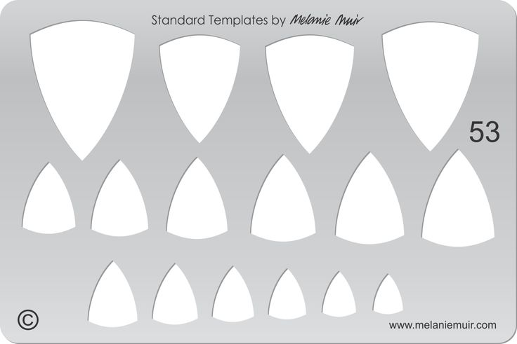 Acrylic template No. 53. Perfect for creating a wide variety of polymer, metal or clay bracelet, necklace, pendant and earring designs.