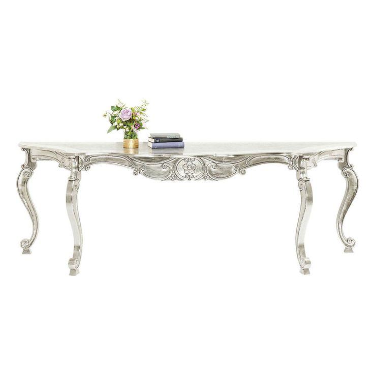 Ett riktigt läckert konsolbord som är hela 237 cm brett i smakfullt sirlig elegans och patina. Mycket välgjort. Mått: Höjd 80 x längd 237 x djup 70 cm. Vikt...