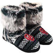 Oklahoma Sooners Ladies Fur Topped Booties - Gray