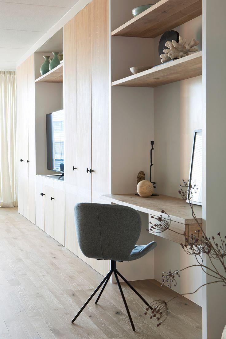 Woonkamer inspiratie | Werkplek in woonkamer | Kastenwand | Foto: Anneke Gambon | Stijlvol Wonen