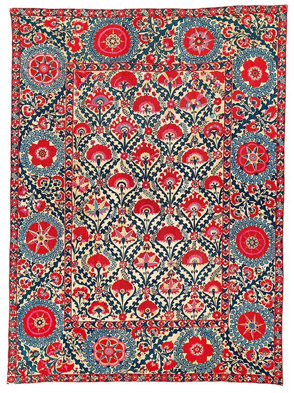 Shahrisyzbz suzani I Uzbekistan, ca. 1800 I As published by Hali I Auction preview