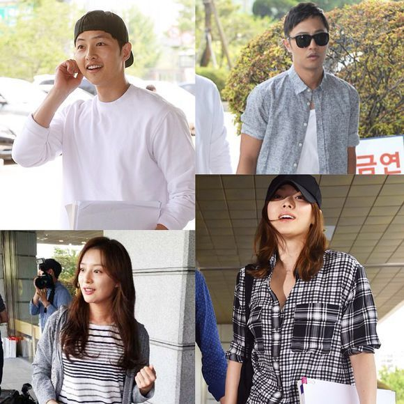 The Cast of Descendants of the Sun Head to Script Reading at KBS Studios | A Koala's Playground