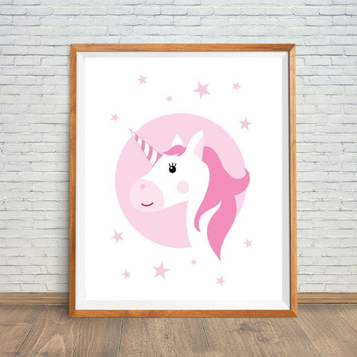 Unicorn Digital Print, Unicorn Nursery Decor, Unicorn Printable, Unicorn Wall Art, Unicorn Nursery Print, Unicorn Magic Dreams, Unicorn Art by CreativePrintsPlace on Etsy