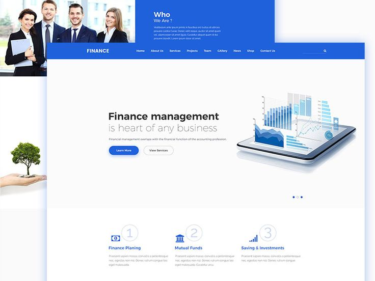 Finance Landing Page Template by Tauhid sajib