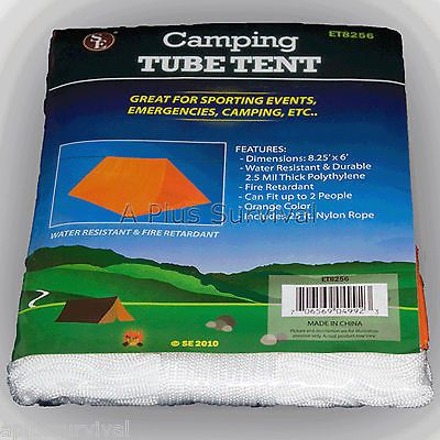 Lot of 200 Orange Emergency Disaster Survival Camping Shelter Tube Tent