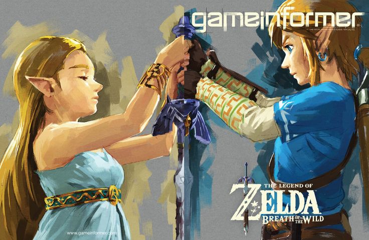 The Legend of Zelda: Breath of the Wild artwork on Game Informer