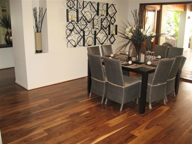 Walnut Accent from the Carpet Call Cezanne range of floating engineered flooring products. 1820 x 145 x 14mm