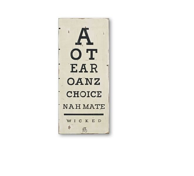 eye chart - wicked | Gifts online, flying fish design nz
