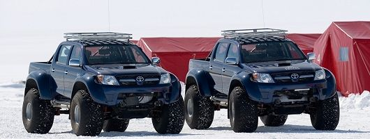 Toyota Hilux reaches South Pole. Image by Toyota. Click here for a larger image.