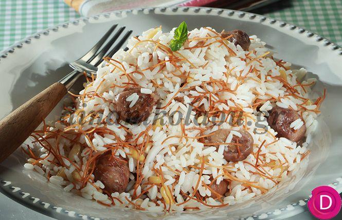 Ρύζι με φιδέ και κάστανα | Dina Nikolaou