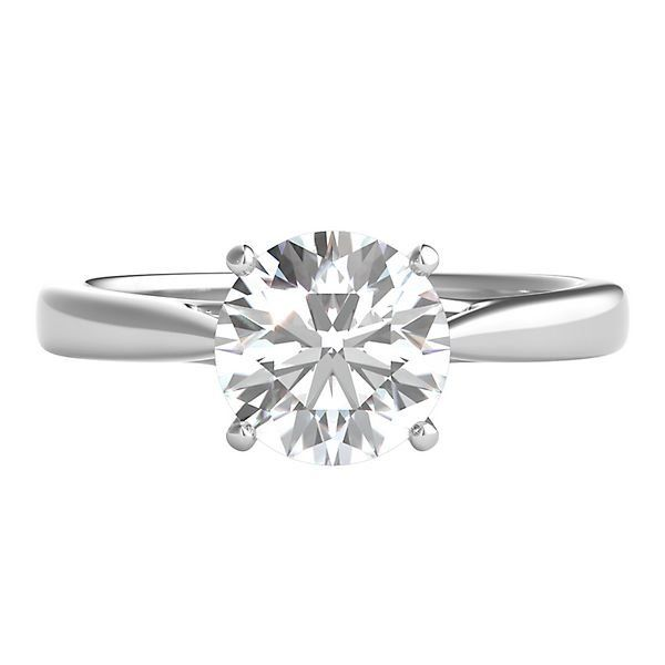 Radiant Star 1 1 2 Ct Tw Diamond Solitaire Engagement Ring In 14k Whi Solitaire Engagement Ring White Gold Solitaire Engagement Ring Wedding Rings Solitaire