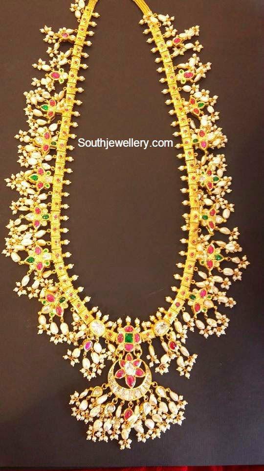 Guttapusalu Pearls Haram - Jewellery Designs